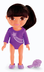 fisher-price gymnast dora wearing outfit