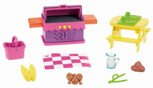 Fisher-price Dora The Explorer Playtime Together Dora And Me Dollhouse Deluxe Backyard Bbq Set