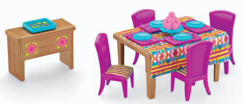 Fisher-price Dora The Explorer Playtime Together Dora And Me Dollhouse Basic Dining Room
