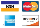 All Credit Cards Accepted and PayPal